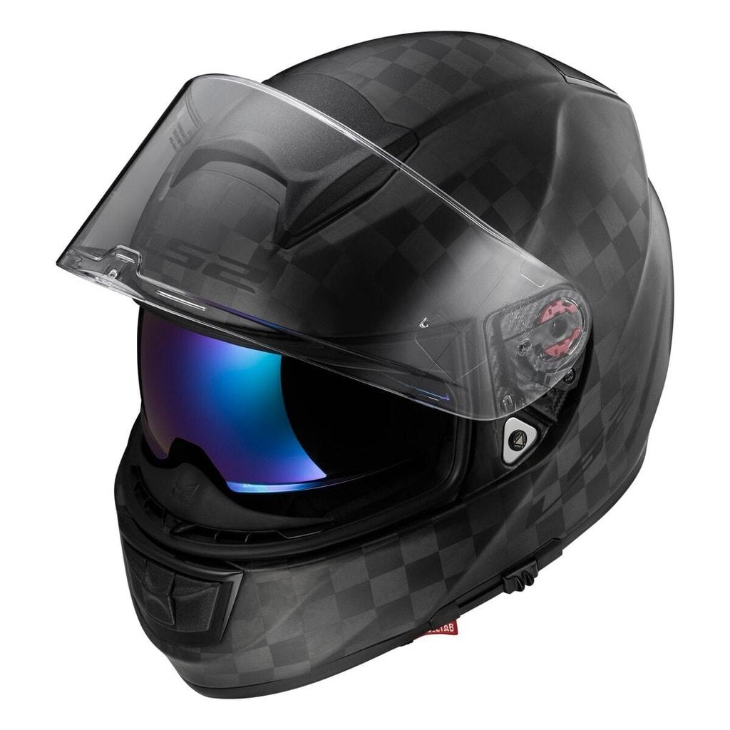 Helma na motorku LS2 FF397 VECTOR SOLID Matt Black Carbon - LS2 - Se  sluneční clonou - Integrální helmy c1521b7181