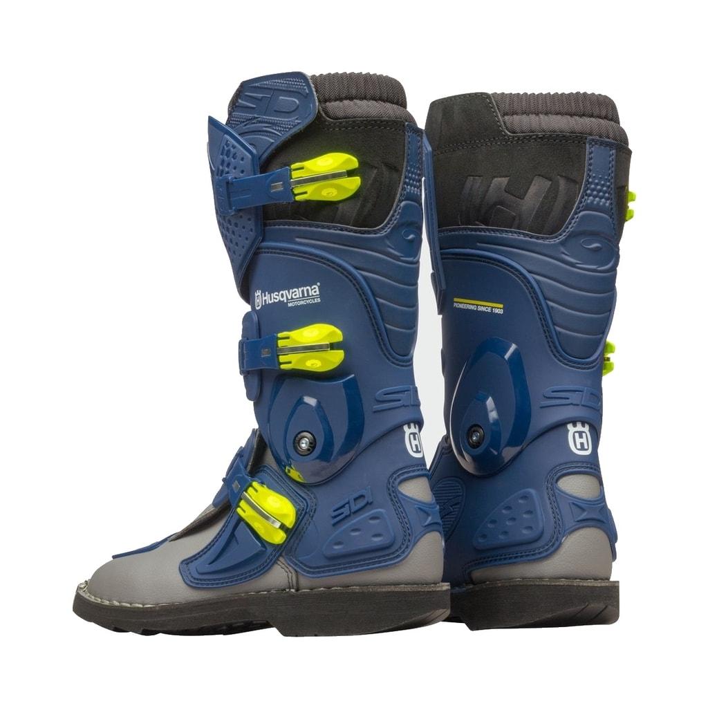 Dětské motokrosové boty SIDI Flame Kids Husqvarna (modrá) - Motokrosové boty  - Moto boty 4ba5cd829b